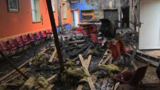 The Orange hall in Convoy was destroyed in the fire