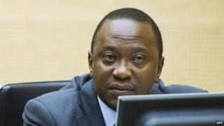 Mr Kenyatta at a pre-trial hearing at the ICC, 21 September 2011