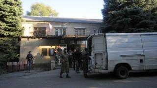 Rebel base in Donetsk. 3 Oct 2014