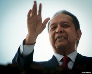 File photograph of Jean-Claude Duvalier