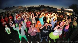 Zombie Zumba dancers
