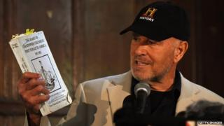 Maritime archaeological investigator Barry Clifford talks about discovering what he believes to be Christopher Columbus' ship, the Santa Maria off the northern coast of Haiti at a news conference May 14, 2014 in New York