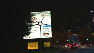 Rotherham road sign