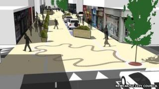 Artist's impression of street plans