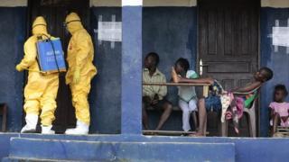 Ebola treatment, Monrovia, Liberia