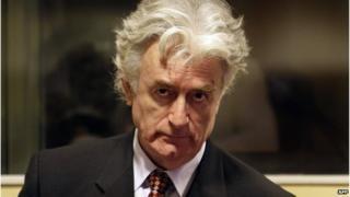 Radovan Karadzic at UN Hague tribunal, 1 October