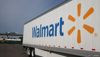 Wal-mart logo on a truck