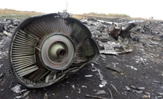 Part of MH17 plane in Grabove, Ukraine (9 Sept)
