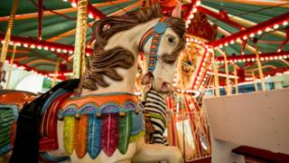 Merry-go-round ride at fair
