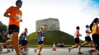 Runners in York