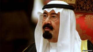 Saudi Arabia's King Abdullah bin Abdul Aziz al-Saud in Muscat on 29 December 2008
