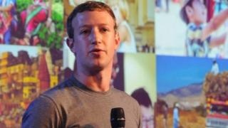 Facebook CEO Mark Zuckerberg addressing a New Delhi summit of internet.org, a project to make internet access affordable across the world in New Delhi, India 09 October 2014