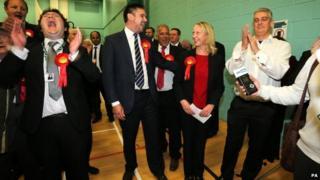 Labour Party celebrates with winner MP Liz McInnes