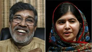 Kailash Satyarthi and Malala Yousafzai