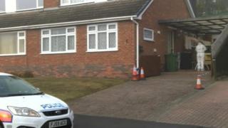Scene of crime in Rockingham Drive