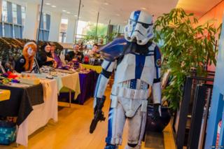 A stormtrooper at King Con