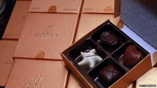 A box of Godiva chocolates