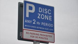 Guernsey parking sign