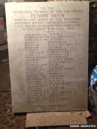 Pendre war memorial