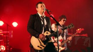 James Dean Bradfield and Nicky Wire of Manic Street Preachers