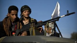 Houthi rebels in Yemen