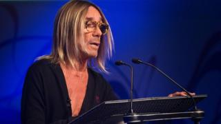 Iggy Pop delivering the John Peel Lecture
