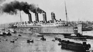 Launch of RMS Mauretania