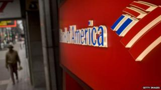 Bank of America cash machine