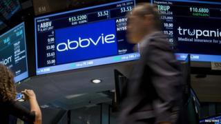 AbbVie on a stock market screen