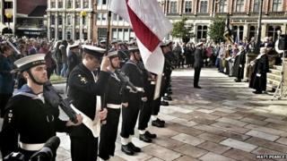 HMS Diamond crew in Coventry