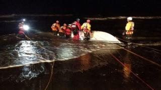 MCA retrieve speedboat from the sea