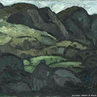 Landscape At Llanaelhaearn by Sir Kyffin Williams