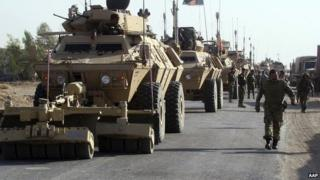 Afghan troops in Helmand province, 18 October