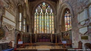 St Mary's church in Shrewsbury
