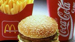 McDonald's burger and Coke drink