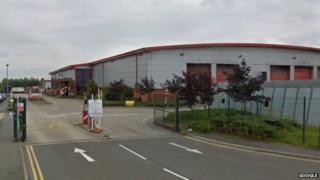 Biffa rubbish-handling plant in Leicester