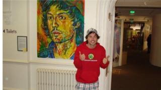 Jamie McDonald with portrait