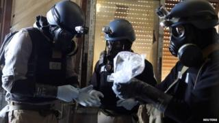 A UN chemical weapons expert in Damascus, Syria on 29 August 2013