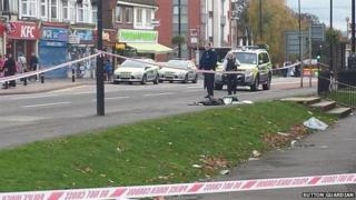 Scene of where teenager was stabbed