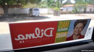 A Dilma Rousseff election car window sticker