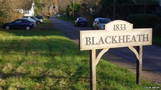 Blackheath village in Surrey