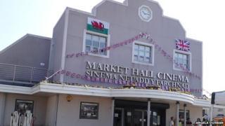 Brynmawr cinema in the town's market hall