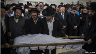 Funeral of Karen Mosquera in Jerusalem (27/10/14)