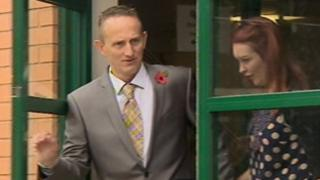 PC Gary Tester and his wife at Swindon Magistrates' Court