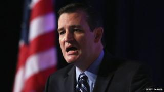 Ted Cruz speaks to conservative activists in Washington, DC on 26 September.