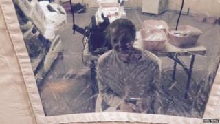 Kaci Hickox's quarantine tent