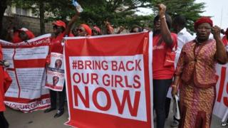 Protest for the Bring Back Our Girls Campaign