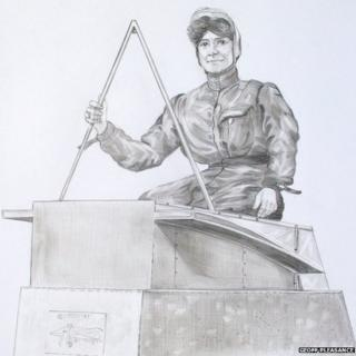 Artist's impression of statue to Edith Cook