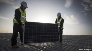 Castle Donington solar panels