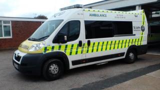 St John Ambulance bariatric vehicle